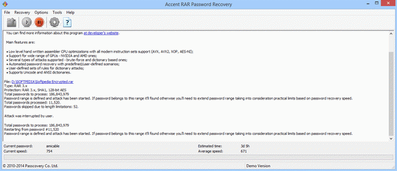 Accent RAR Password Recovery кряк лекарство crack