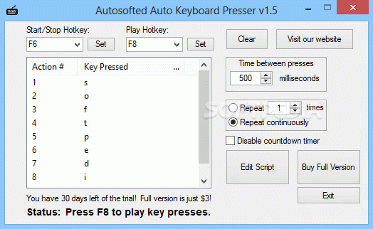 Autosofted Auto Keyboard Presser кряк лекарство crack