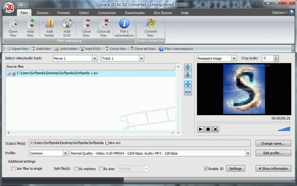 Axara 2D to 3D Video Converter кряк лекарство crack