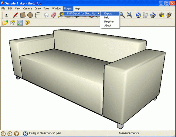DXF Export for SketchUp