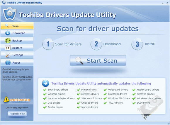 Toshiba Drivers Update Utility кряк лекарство crack