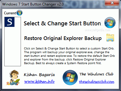 Windows 7 Start Button Changer кряк лекарство crack