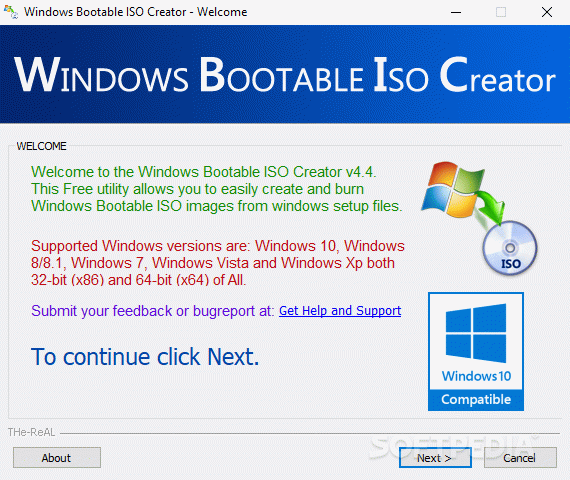 Windows Bootable ISO Creator кряк лекарство crack
